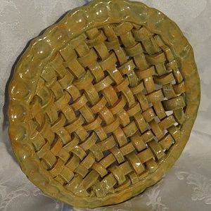 Other - Stoneware Pottery Lattice Weave Basket